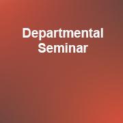 Departmental Seminar 2019-20